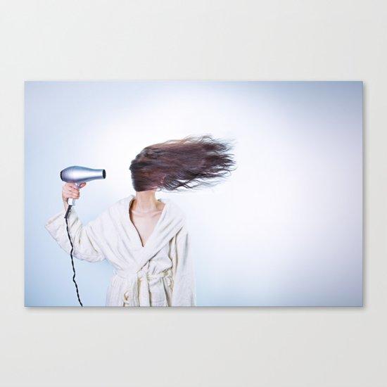 hair comic wind 4 Canvas Print