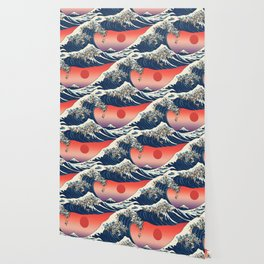 The Great Wave of Pug Wallpaper