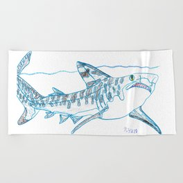 Tiger Shark II Beach Towel