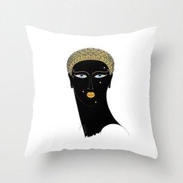 """Art Deco Design """"African Beauty"""" Throw Pillow"""