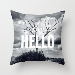Motus Operandi Collection: Say hello Throw Pillow