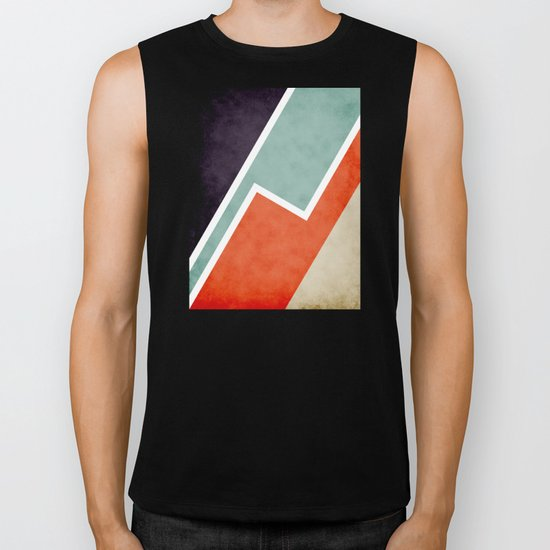 Colorful Textural Abstract Graphic Biker Tank