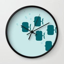 School of fish Wall Clock
