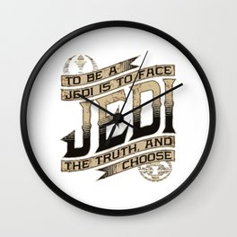 Jedi The Truth and Choose Wall Clock