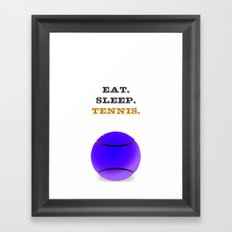 Eat. Sleep. Tennis. (Black) Framed Art Print