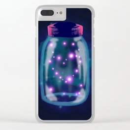Fire Flies Clear iPhone Case