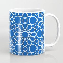Blue Sapphire Arabic Geometry Cross-stitch Pattern Art Coffee Mug
