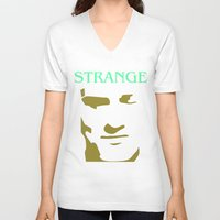 smiths V-neck T-shirts featuring Strange Strangeways (The Smiths inspired) by Trendy Youth