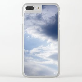 Sky and Clouds Clear iPhone Case