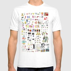 Letterpress Collection #04 MEDIUM White Mens Fitted Tee