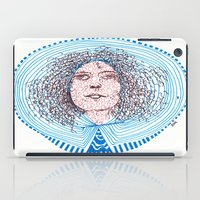 marc johns iPad Cases featuring portrait m - almost Marc Bolan - 014 by Ana Vânia Fonseca