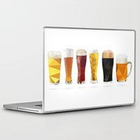 beer Laptop & iPad Skins featuring Beer by the lazy pigeon