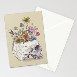 Skull of flowers Stationery Cards