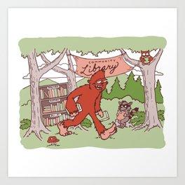 Community Library (Sasquatch) Art Print