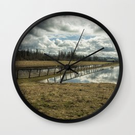 Bridge Over Sky Wall Clock