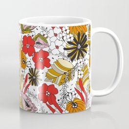 Retro Fall Floral Coffee Mug