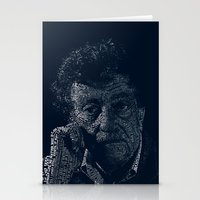 vonnegut Stationery Cards featuring Kurt Vonnegut Typographic Print by Bookish Prints