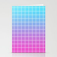 gradient Stationery Cards featuring Gradient by aesthetically
