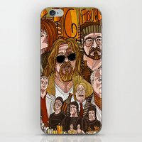 big lebowski iPhone & iPod Skins featuring The Big Lebowski by David Amblard