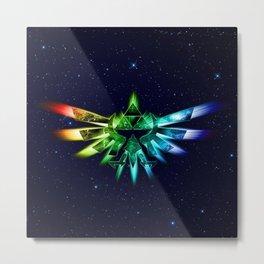Zelda - Triforce full color Metal Print