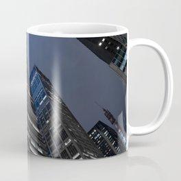 Modern buildings in New York City Manhattan at Night Coffee Mug