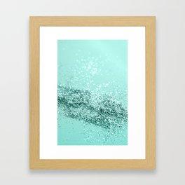 Summer Vibes Glitter #7 #mint #shiny #decor #art #society6 Framed Art Print