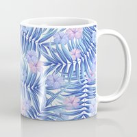 hawaiian Mugs featuring Hawaiian Pattern by Marta Olga Klara