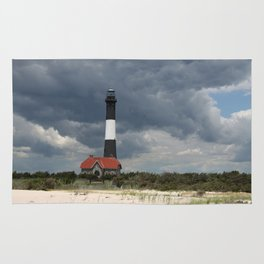 Dramatic Sky Over Fire Island Light Rug