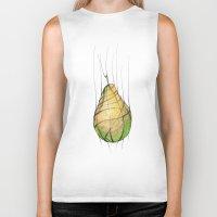 pear Biker Tanks featuring Pear by Natalia Winiarz