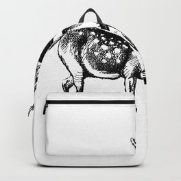 Alice and the Fawn in Black Backpack