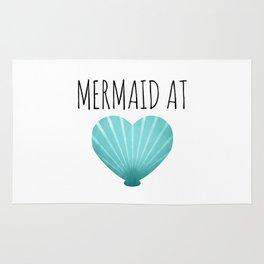 Mermaid At Heart  |  Teal Rug