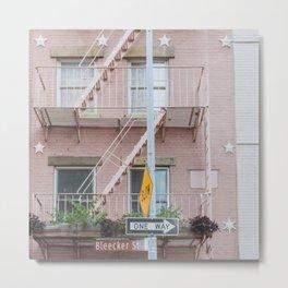 Bleecker Street One Way - NYC Photography Metal Print