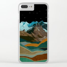 Cool Night Clear iPhone Case