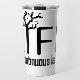 Life and Learn Concept Design Travel Mug