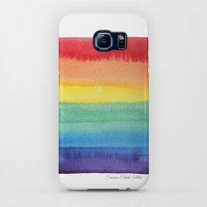 LGBT Flag, Gay Pride, Gay Rainbow, Rainbow, LGBT Rainbow, Watercolor, Watercolor Painting, Slim Case Galaxy S6