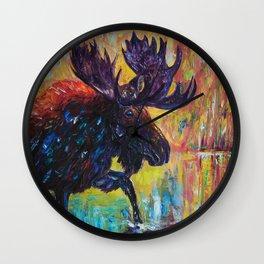 Moose by OLena Art Wall Clock