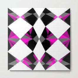Gemstones Geometric Pink Metal Print