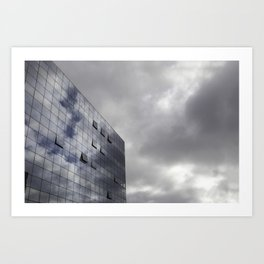 clouds glass and steel Art Print