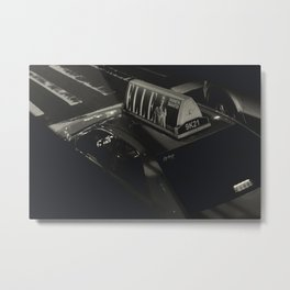 Elle's Taxi Metal Print