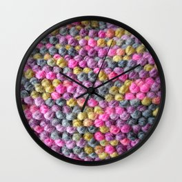 Knit one, purl one. Wall Clock