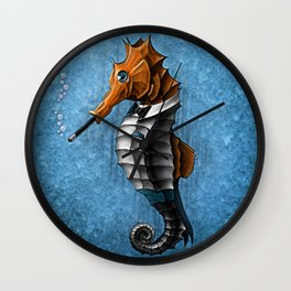 Sophisticated Seahorse Wall Clock