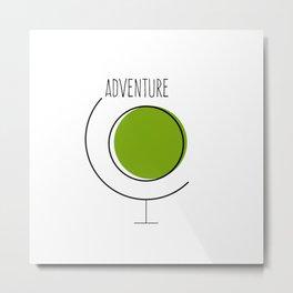 Adventure Earth Globe Metal Print