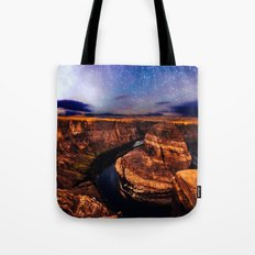 Horseshoe Bend Starseeds - Starry Sky Night at Grand Canyon Arizona Tote Bag