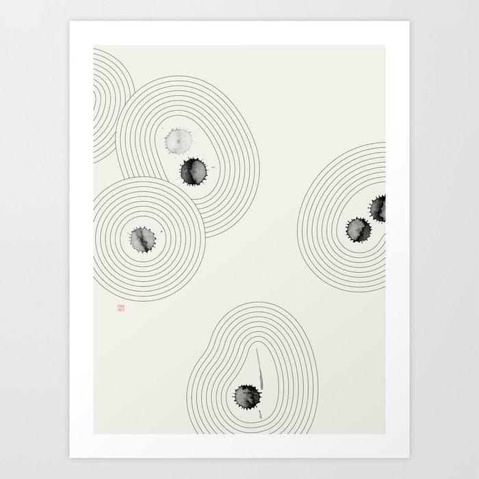 Accidental Zen Garden n°2 (West Meets East Series) Art Print