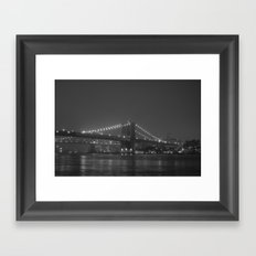 The Brooklyn Bridge Classic Framed Art Print