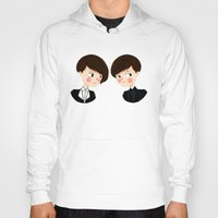 tegan and sara Hoodies featuring Tegan and Sara by Christina Abigail