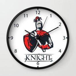Cartoon plumber Knight Wall Clock