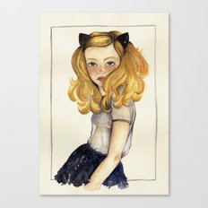 Olivia and the Halloween Canvas Print