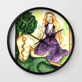 Reflections of the past Wall Clock
