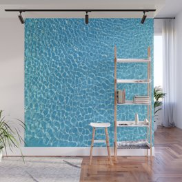 Blue Swimming Pool Rippling Water Wall Mural